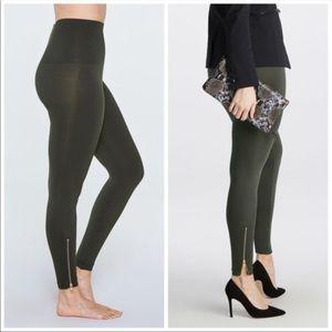 Spanx Look At Me Now Seamless Side Zip Leggings